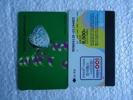 KOREA  USED CARDS   BUTTERFLIES - Vlinders