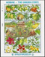 Micronesia 1989, Kosrae - The Garden State, MNH Sheet - Micronesia