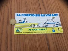 AUTOCOLLANT, Sticker «LA COURTOISIE AU VOLANT - JE PARTICIPE - CG Nord Pas De Calais» (voiture 2CV) - Autocollants