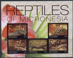 Micronesia 2011, Reptiles Of Micronesia, MNH Sheet - Micronesia