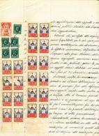 1933 PRO TUBERCOLARI 0,10 38 PEZZI SU DOCUMENTO DI 4 FACCIATE - Zonder Classificatie