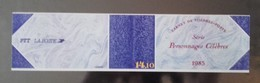 Timbres - Personnages Célèbres 1985 - Faciale 11.40 Fr - Valeur 1.74 € - Bloc N° 2360 - People