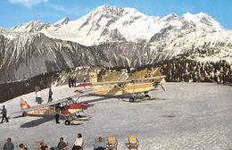 """COURCHEVEL 1850 - L'Altiport - Au Fond Le Grand Bec Et La Grande Casse - Avions """"Air Alpes"""" - Courchevel"""