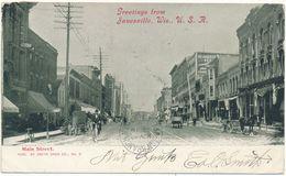 JANESVILLE, WIS - Main Street - Janesville