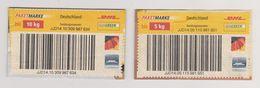 Deutschland: BRD 2009. 2 Paketmarken (5 Kg, 10 Kg) Gebraucht - Gebraucht