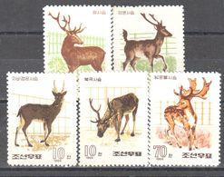 Korea - Deer - Antler - 1966 - MNH - Timbres