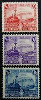 Italie Italy Italia 1939 Centenaire Chemin De Fer Train Centenario Delle Ferrovie Yvert 429-431 ** MNH - 1900-44 Vittorio Emanuele III