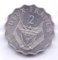 RWANDA 1970: 2 Francs, KM 10 - Rwanda