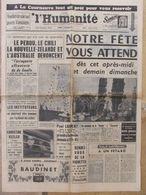 Journal L'Humanité (7 Sept 1963) Avant Fête De L'Huma - Procès Vanuxem - Christine Keeler - - 1950 - Oggi