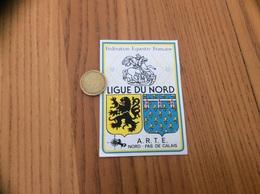 AUTOCOLLANT, Sticker «Fédération Equestre Française - LIGUE DU NORD - ARTE NORD PAS DE CALAIS» (blason, Cheval) - Aufkleber