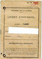 Livret Matricule Individuel Classe 1955 ALGERIE - Documents