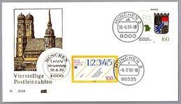 CAMBIO DE CODIGO POSTAL EN ALEMANIA - Postal Code Change. Munchen, 30-Junio Y 1-Julio-1993 - Postleitzahl