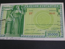 GREECE 1948 Lottery . - Billets De Loterie