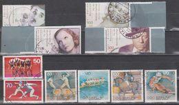 Deutschland: Berlin 1978, BRD 1992 - 2001. 10 Verschiedene Zuschlagsmarken Gestempelt - [7] République Fédérale