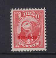 #03 Great Britain Lundy Island Puffin Stamp 1939 1/2p Mint. - Emissione Locali