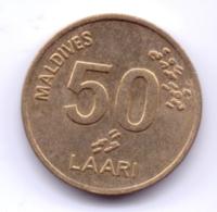 MALDIVES 1995: 50 Laari, KM 72 - Maldives