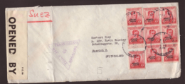 Lettre  Obl. Manila 13.05.1940  -> Zurich - Zensur/censored/censure OBE 551 + Singapor 46 - Philippines