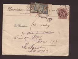 Lettre Affr. 2c Blanc Obl. 27.08.1919  -> Paris > Le Chenet - Lettres Taxées