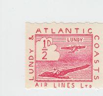 #13 Great Britain Lundy Island Puffin Stamp 1939 Sm Air Red #19 Heavy Print Mint - Emissione Locali
