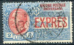 Z2018 ITALIA REGNO 1925 Espressi 2 Lire, Usato, Sassone 13, Valore Catalogo 240 €, Buone Condizioni - 1900-44 Vittorio Emanuele III