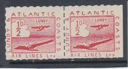 #25 Great Britain Lundy Island Stamp 1939 Sm Air Red Cat #19(a) Cloud In Sea - Emissione Locali