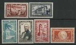MONACO POSTE AERIENNE N° 36 à 41 Cote 38 € Neufs ** (MNH). Centenaire De La Naissance Du Prince Albert 1er. TB - Airmail