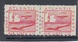 #31 Great Britain Lundy Island Puffin Stamp 1939 Sm Air Red Cat #19(f) Broken A - Emissione Locali