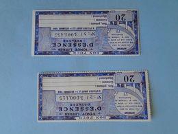 BONS APPROVISIONNEMENT 1958 -- 2 Bons Pour 20 Litres D'Essence Détaxée - A Utiliser Avant Le 1er Décembre 1958 - Notgeld