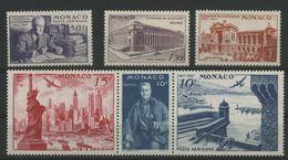 MONACO POSTE AERIENNE N° 22 à 27 Cote 24 € Neufs ** (MNH). Centenaire Du Timbre Américain. TB - Airmail