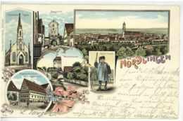 Gruss Aus NÖRDLINGEN 1899 Schöne Litho Ansichtskarte - Noerdlingen
