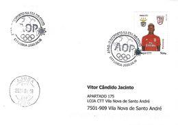 COVID-19 - PORTUGAL - Sport In The COVID Era - Commemorative Postmark (cover Real Circulated) - Disease