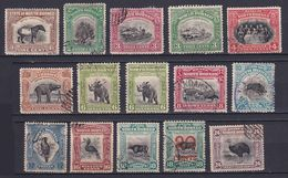 NORTH BORNEO 1909/23, SG# 158-177, Animals, Birds, Used - Borneo Septentrional (...-1963)