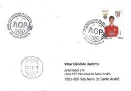COVID-19 - PORTUGAL - Sport In The COVID Era - Commemorative Postmark (cover Real Circulated) - Malattie