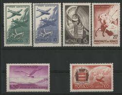 MONACO POSTE AERIENNE N° 2 à 7 Cote 16 € Neufs ** (MNH). Série Complète De 6 Valeurs TB - Airmail