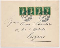 Zumstein 181 / Michel 240 Auf Posrtogerechtem Brief Von Luzern Nach Lugano - Covers & Documents