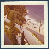 Photo Couleur Année 1958, France, St.Jean Cap Ferrat, Plage Passable,vue De La Villa Claudia - Luoghi