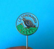 BASKA (KRK) HUNTING SOCIETY - ROCK PARTRIDGE Croatia Old Pin Chasse Caza Jagd Caccia Caça Perdrix Rebhuhn Pernice Perdiz - Animaux