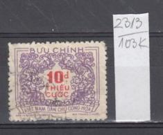 103K2313 / 1958 - Michel Nr. 15 Used ( O ) Portomarken - Postage Due Stamps - New Design , North Vietnam Viet Nam - Vietnam