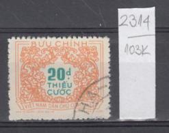 103K2314 / 1958 - Michel Nr. 16 Used ( O ) Portomarken - Postage Due Stamps - New Design , North Vietnam Viet Nam - Vietnam