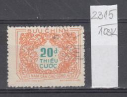 103K2315 / 1958 - Michel Nr. 16 Used ( O ) Portomarken - Postage Due Stamps - New Design , North Vietnam Viet Nam - Vietnam