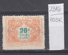 103K2316 / 1958 - Michel Nr. 16 Used ( O ) Portomarken - Postage Due Stamps - New Design , North Vietnam Viet Nam - Vietnam