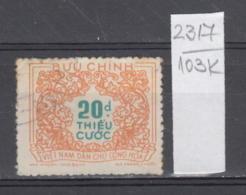 103K2317 / 1958 - Michel Nr. 16 Used ( O ) Portomarken - Postage Due Stamps - New Design , North Vietnam Viet Nam - Vietnam