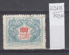 103K2318 / 1958 - Michel Nr. 17 Used ( O ) Portomarken - Postage Due Stamps - New Design , North Vietnam Viet Nam - Vietnam