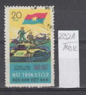 103K2321 / 1967 - Michel Nr. 12 Used ( O ) Vietcong - 7th Ann. Of  National Liberation Front Tank ,Vietnam Viet Nam - Vietnam