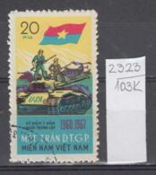 103K2323 / 1967 - Michel Nr. 12 Used ( O ) Vietcong - 7th Ann. Of  National Liberation Front Tank ,Vietnam Viet Nam - Vietnam