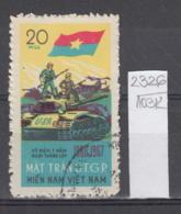 103K2326 / 1967 - Michel Nr. 12 Used ( O ) Vietcong - 7th Ann. Of  National Liberation Front Tank ,Vietnam Viet Nam - Vietnam