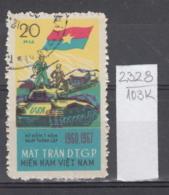 103K2328 / 1967 - Michel Nr. 12 Used ( O ) Vietcong - 7th Ann. Of  National Liberation Front Tank ,Vietnam Viet Nam - Vietnam