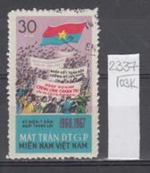 103K2337 / 1967 - Michel Nr. 14 Used ( O ) Vietcong - 7th Anniversary Of The National Liberation Front ,Vietnam Viet Nam - Vietnam