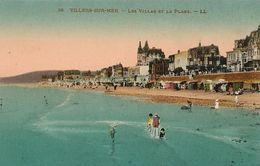 1450Villiers Sur MerLes Villas Et La Plage (colorisée)N° 36Non Circulée - Villers Sur Mer