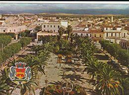 Carte Postale. Maroc. Oujda. Place Du 16 Novembre. Vue Générale. Palmiers. Editions Jeff. Etat Moyen. Taches - Árboles
